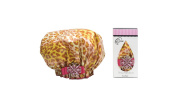 Dry Divas Designer Shower Cap - 60cm Bouffant Cap With Vintage Jewelled Brooch