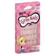 Little Fing'rs Girlie Nails Nails, Stick-On by Fing'rs