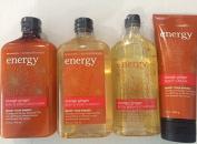 Bath & Body Works Full Size Orange Ginger Shampoo, Conditioner, Body Wash/Foam Bath and Body Cream Gift Set