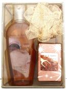 Body and Earth Elements Vanilla Sugar Bath Set - Shower Gel, Soap and Scrubbie