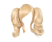2 Ponytails 35cm Blonde Kanekalon Wigs Cosplay Code Geass Lelouch of the Rebellion Anya Alstreim