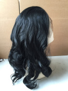 Synthetic Wig Body Wave Lace Front Wig 1# Jet Black