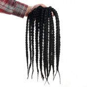 Box Braids Hair Crochet 3S Afro Pretwisted Braids Extensions 30cm (6 Packs)