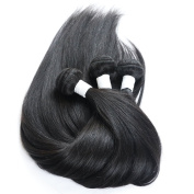 Maoyuan 7A HOT Sell. Hair Silky Straight Mixed Length Natural Black Colour Virgin Brazilian Straight Human Hair Weft/Weaving 3bundles
