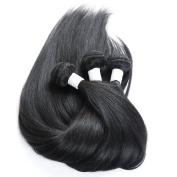 Maoyuan 7A HOT Sell. Hair Silky Straight Mixed Length Natural Black Colour Virgin Brazilian Straight Human Hair Weft/Weaving 3bundles