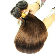 Maoyuan Cheap. 6A Brown 4# Brazilian Straight Hair Weaves 3pcs/lot Virgin Remy Human Hair Bundles 20cm - 70cm Hair Weft