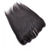 Wigshow Silk Straight 3 Part Silk Base Frontal Closure 13x 4 With Baby Hair Bleached Knots Natural Black Brazilian Virgin Human Hair for Black Women