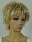 Women¡¯s Exquisite Blonde Mix Colour Short Curly Daily Wig with Side Bang