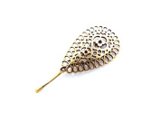 Sara Attali Design Vintage Hair Pin Bobby Pins Bridal Hair Clip Impressive Vintage Wedding Hair Pin Lovely Drop Gold