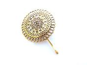 Sara Attali Design Vintage Hair Pin Bobby Pins Bridal Hair Clip Impressive Vintage Wedding Hair Pin Vintage Antiqe Gold Style