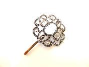 Sara Attali Design Vintage Hair Pin Bobby Pins Bridal Hair Clip Impressive Vintage Wedding Hair Pin Shiny Silver