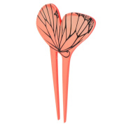 YOY Fashion Hair Decor Japanese Traditional Style Hair Sticks Pins Picks Pics Forks for Women Girls Hair Accessory Two Prong with Butterfly, Orange
