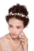 HailieStudio Handmade Leaf & Rhinestones Floral Bride Bridesmaids Headband
