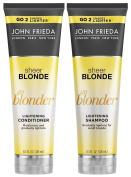 John Frieda Sheer Blonde Go Blonder Lightening DUO Set Shampoo + Conditioner, 250ml, 1 Each