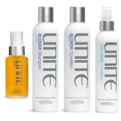 Unite Blonda Shampoo 240ml & Conditioner 240ml Duo & Unite Leave in Detangler, 240ml & Unite Argan Oil, 100ml