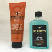 SAVE MONEY Woody's Just4Play Hair & Body Wash + Mega Firm Gel 2 Pack!