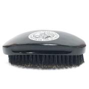 Badass Beard Care 100% Boars Hair Bristles Hardwood Frame Easy Finger Grip Palm Fit For Men Black Series Contoured Beard Brush