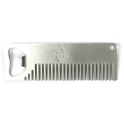 Badass Beard Care Beard Comb with Belt Clip for Men - Pocket Fit, Light Weight and Very Strong Metal Alloy