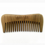 Badass Beard Care Hand Carved Sandalwood Beard Comb for Men - Very Thick and Perfect Hand Fit, Must Have for Curly and Dense Beards