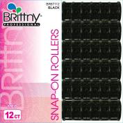 BR ROLLER S/ON-BK 12CT [M] BR67112