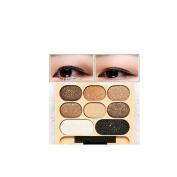 8 Colours/Set Diamond Shimmer Eyeshdow Gillter Eyebrow Palette Makeup Palettes Eye Gloss with Brush Mirror #28586 #4