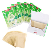 Face Forever Natural Green Teal Oil Blotting Paper 300 Sheets Portable Oil Control Clear Paper.Professional Papers for Removing Facial Oil and Saving Makeup on Face