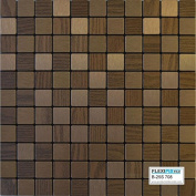 FLEXIPIXTILE, Modern Aluminium Mosaic Tile, Peel & Stick, Backsplash,Accent Wall,0.09sqm,CHECKMATE