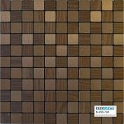 FLEXIPIXTILE, Modern Aluminium Mosaic Tile, Peel & Stick, Backsplash,Accent Wall,0.09sqm,CHECKMATE