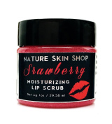 The Moisturising Sugar Lip Scrub (Strawberry) with Cranberry Butter and Jojoba Oil