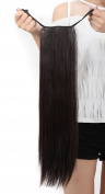 46cm 60cm 1 Piece Curly Straight Wrap Binding Tie up Ponytail Clip in Hair Extensions