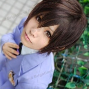 Flyingdragon Ouran High School Host Club Haruhi Fujioka Short Dark Brown Cosplay Wig