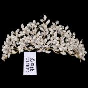 Ulike2 Wedding Bridal Crystal Rhinestone Tiara Flower Style Gold/Silver Plated Crown Headpiece Headwear Hair Jewellery