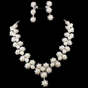 joylive Bridal Bridesmaid Flower Girls Jewerly Set Pearl Necklace Earring