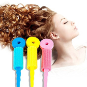 LKE® 5 Set (15 pcs) Colourful Soft Foam Sponge Wave Perm Hair Rollers Curler