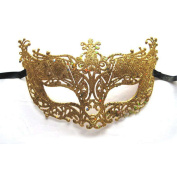 Princess Girl Hollow Fox Masquerade Half Face Mask Party Dance Mysterious Cover Gold