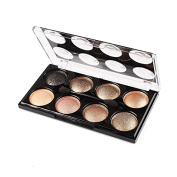 KeyZone 8 Colours Eyeshadow Palette Set Makeup Brush in 8#