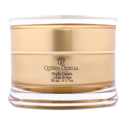 Queen Odelia Best Anti Ageing Moisturiser Night Cream with Cactus Oil, Dead Sea Minerals & Vitamin E - 50ml- Formulated to recharge and intensively nourish your skin- Based on natural ingredients!