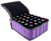pureGLO Essential Oil Carrying Case - Soft 30 Holds 5ml, 10ml, 15ml Aromatherapy Bottles - Essential Oils Display Organiser Bag for Storing and Travelling with Portable Handle