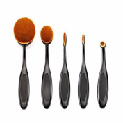 Beauty Tools;TOOPOOT 5PCS Oval Makeup Brushes Loose Powder Brush