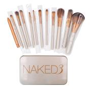 Makeup Brushes Set - CY 12Pcs Professional Bamboo Handle Kabuki Makeup Brush Foundation Blending Blush Powder Brush Cosmetics Brushes Set with Box