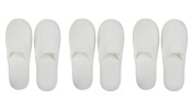 Closed Toe White Pevonia Spa Slippers / Hotel Slippers