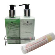 Pecksniff's Hand Wash Duo in Pine & Clove & Vegan Organic Lip Balm in Spearmint