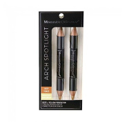Measurable Difference Measurable Difference Arch Spotlight Duo Sided Concealer, Highlighter and Corrector Pencil 2-Piece Kit - Deep & Yellow