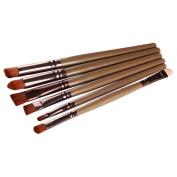 DATEWORK 6PCS Cosmetic Lip Eyeshadow Makeup Brush