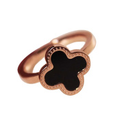Wild Fashion Personality Ladies Accessories Clover Diamond Ring Simple