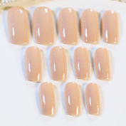 24pcs Incarnadine Pink False Nails Tips Pre-Designed Acrylic Fake Nail Z157