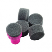 Fashionzone Template Transfer DIY Make Up Sets Nail Art sponge seal Stamp Polish Pink