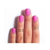 7pcs Simple Gold-Tone Shiny Cute Gothic Punk Stack Plain Above Knuckle Midi Finger Band Rings Joint Mid Ring Set Tip Stacking Rings