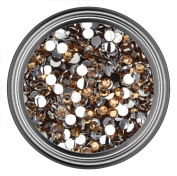 Coffee Resin Rhinestones in 2mm 3mm 4mm 5mm 6mm for Flatback Nail Art Cabochon Diy Decoration and Craft