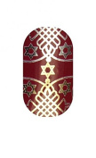Minx Nails Festival of Lights Nail Decals Hanukkah Metallic Red and Gold